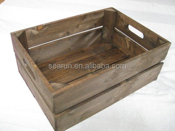 Cheap Wooden Crates For Fruit Old Vegetables Sale