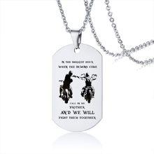 Колье с собачьим жетоном для мужчин, подарок для папы, колье с собачьим жетоном из нержавеющей стали, Невероятная цена(Китай)