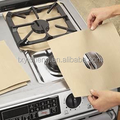 Stovetop Protector Gas Range Protector with PTFE Coated Fiberglass Fabric