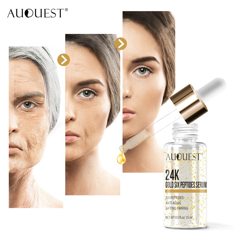 24 k Or Sérum Anti-Âge Au Collagène Ampoule Sérum Éclaircir Les Taches Hydratant Blanchissant Raffermissant