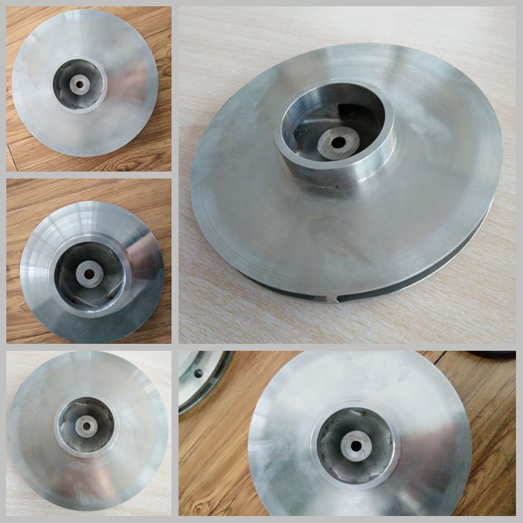 Steel investment casting impeller custom cnc machining with polishing
