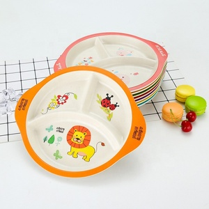 China Cheap items to sell bamboo fiber kids plates dinner set