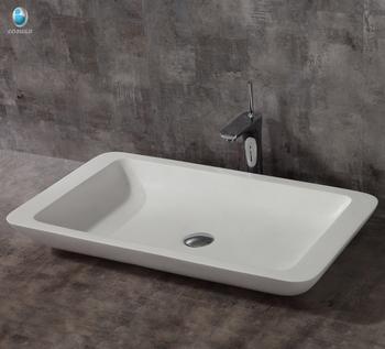 Lavatory Fancy Bathroom Handmade Wash Basin Engineered Stone Sink