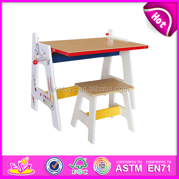 Colorful Table And Chair Wooden Toy Kids Homework Hot Children Furniture
