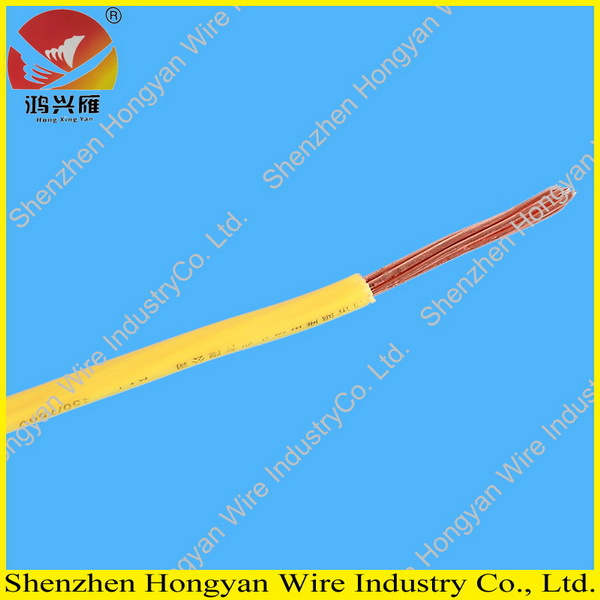 Single Core Stranded Copper Conductor Pvc Insulated Green Yellow ...