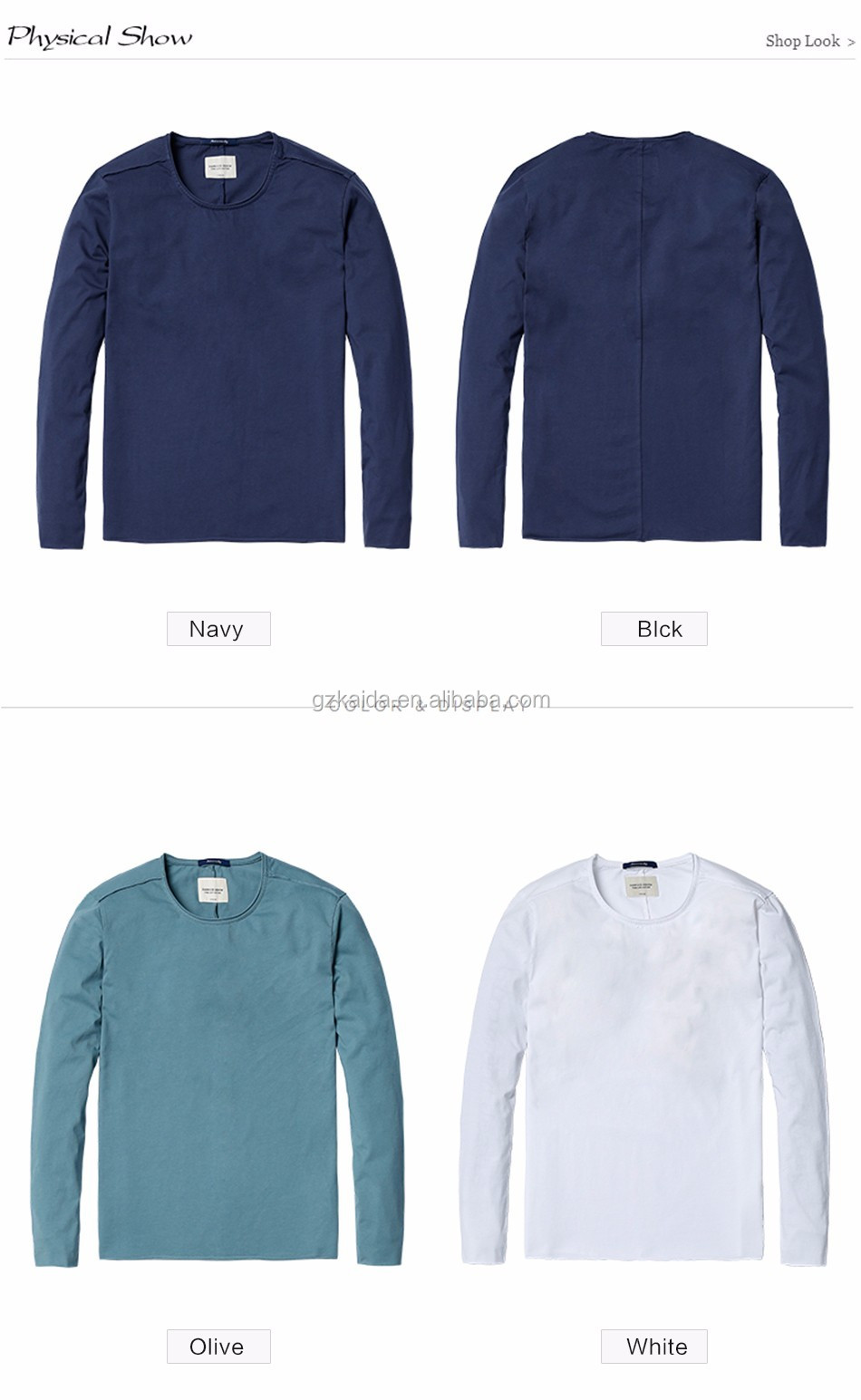 Wholesale customized long sleeve t shirt men with custom for Wholesale logo t shirts