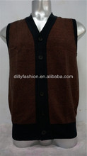 custom sweater vest men cashmere knitted vest