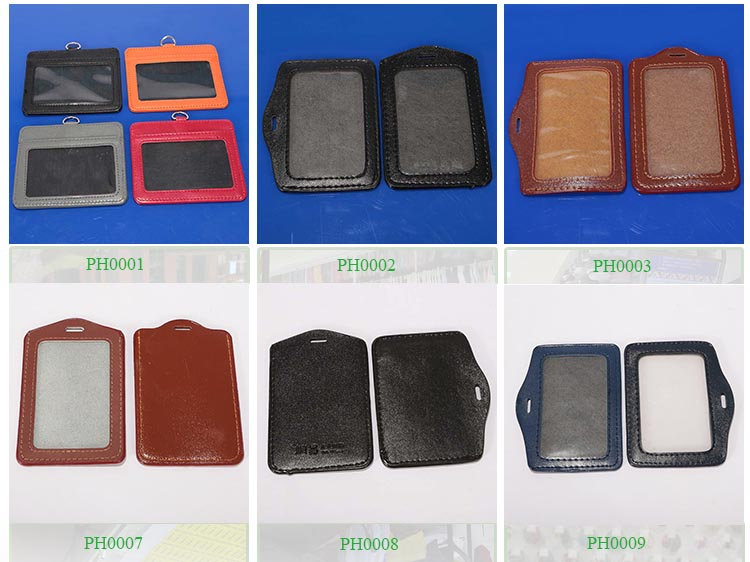 new badge holder leather card holder id - Plastic Id Card Holder