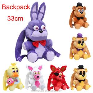 87ce60320de 33CM Five Nights At Freddys plush bag fnaf Fazbear Foxy bonnie chica plush   amp  stuffed school bag Plush toys