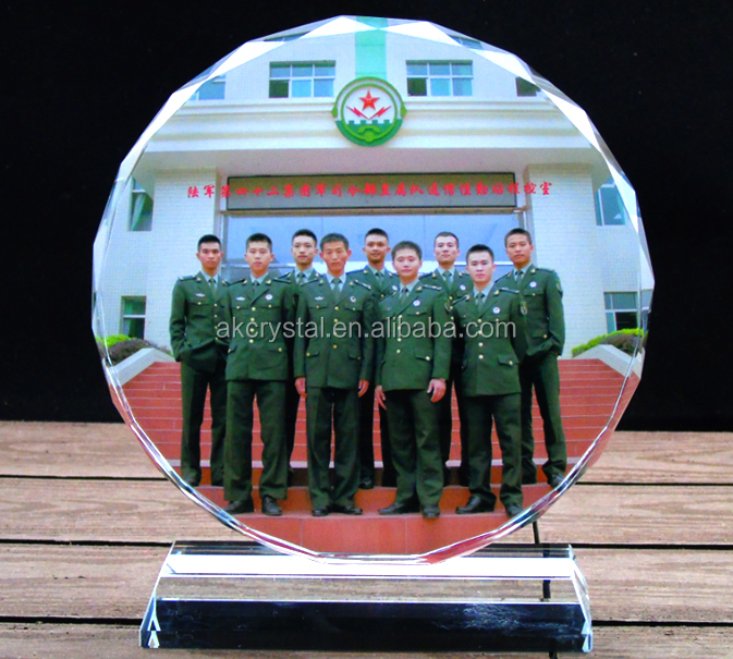 Beautiful top quality wedding image crystal photo frame from crystal manufacturer