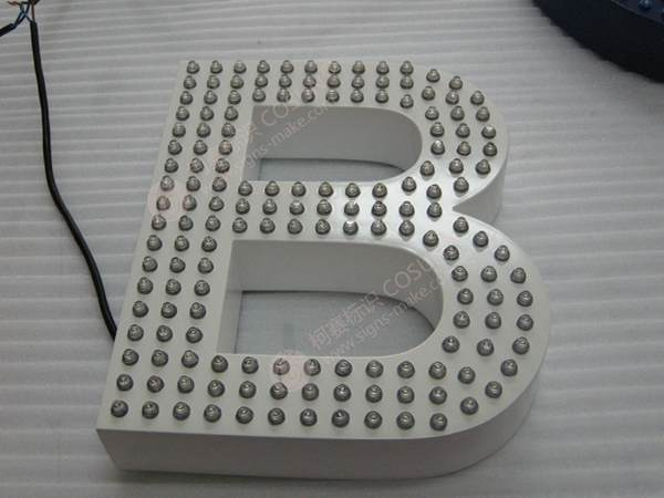 led channel letter signs 3d aluminium profile led letter