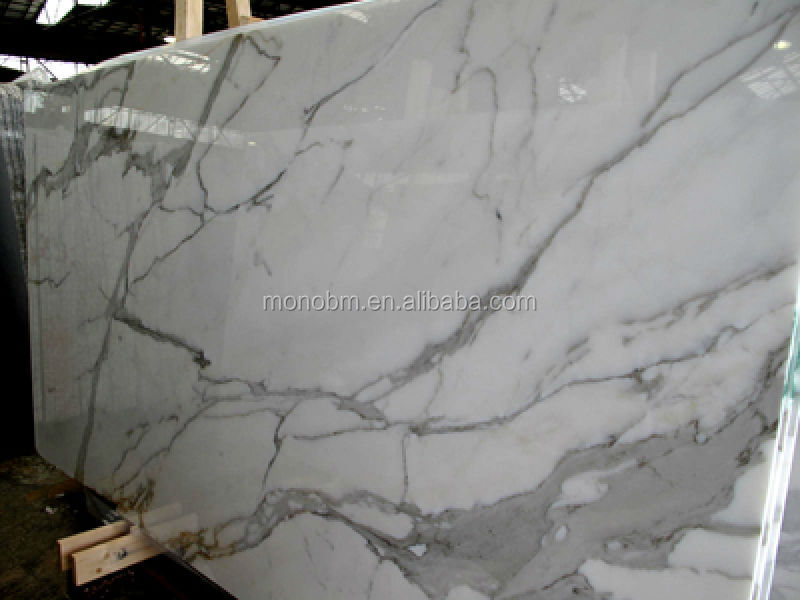 Italian White Statuario Venato Marble for Bathroom