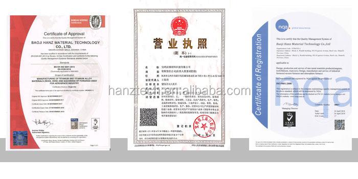 מכירה לוהטת 95wnicu גיליון טונגסטן כבד סגסוגת צלחת (WNiFe) 3.175x184x190mm