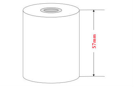 "3 1/8"" x 230ft thermal paper 80mm cashier paper roll"