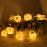battery operated LED 3d paper lantern shape string light Christmas Wedding party Decoration string light