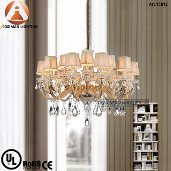 18 Light Crystal Chandelier in China with Clear Crystal