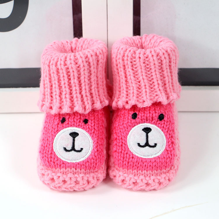 a8d3f38adf45 New Baby Shoes Hand-woven Baby Wool Socks Handmade Crochet Newborn ...