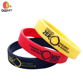 bespoke custome bracelet google rubber wristbands silicone thumb