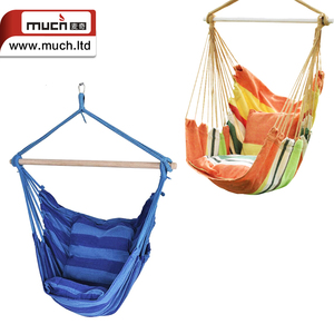 Hot sale cotton canvas outdoor durable kids hanging hammock swing chair