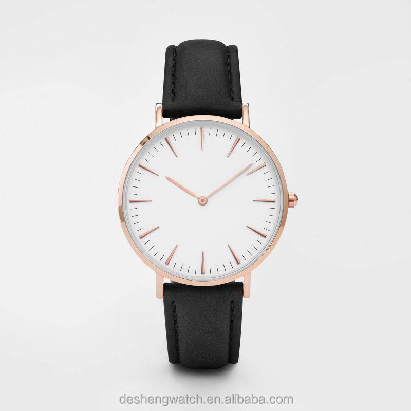 2016 fashion simple style watches stainless still thin wrist watch for men own brand metal watch popular in the market