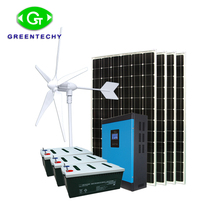 5kw Off Grid Solar Hibrida Sistem <span class=keywords><strong>Angin</strong></span>/<span class=keywords><strong>2kw</strong></span> <span class=keywords><strong>Turbin</strong></span> <span class=keywords><strong>Angin</strong></span> dan 3kw Panel Tenaga Surya/Solar Panel