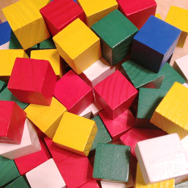 Colored Wood Blocks ~ Learning resources wooden color cubes craft wood blocks