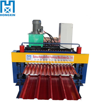 Aluminum Cold Double Layer Corrugated&ibr Plate Roll Forming Machine