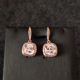 Wholesale Rose Gold Earrings Rose Gold Stud Earrings Rose Gold Bridal Earrings