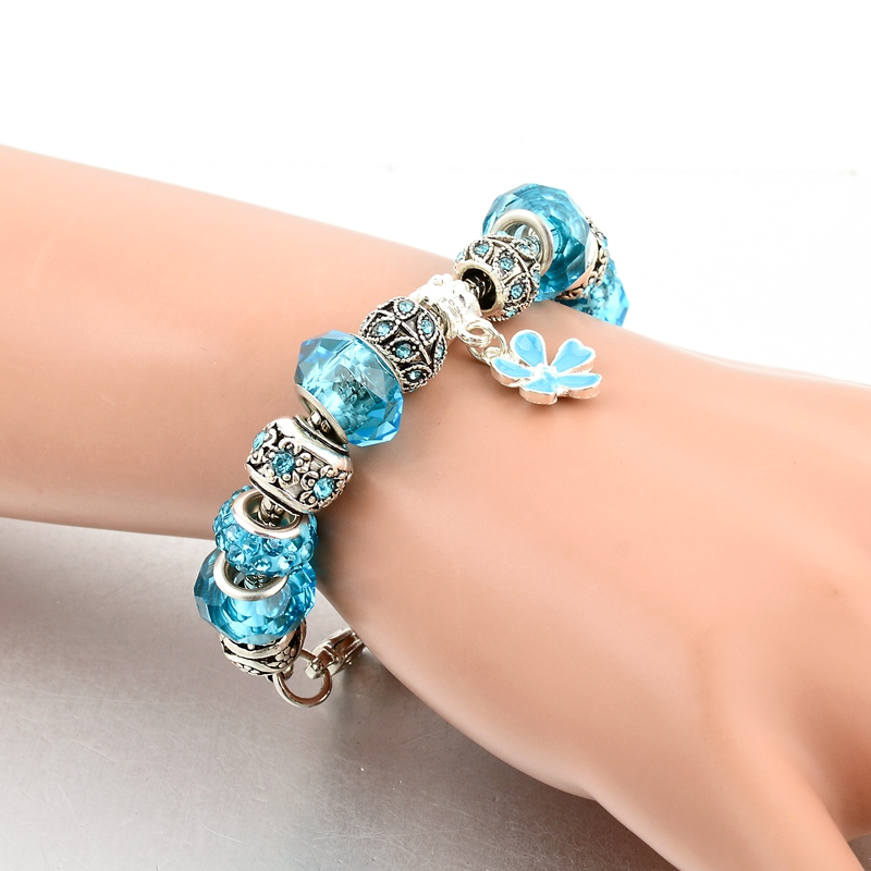 European Big Large Beads Charm Bead Bracelet For Birthday Anniversary Christmas Gift