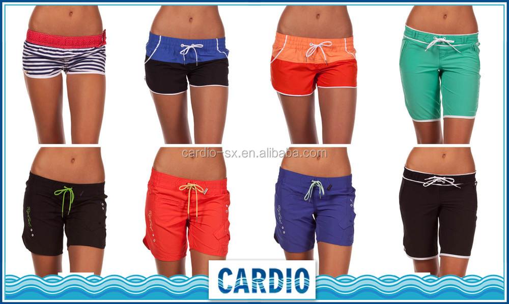 Anti - uv กางเกงขาสั้นผ้ายืด 4 ทิศทาง boardshorts ชุดว่ายน้ำสำหรับสตรีชุดว่ายน้ำชุดว่ายน้ำชุดว่ายน้ำ 2018
