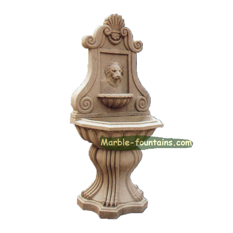 indoor factory price small marble lion head wall fountains