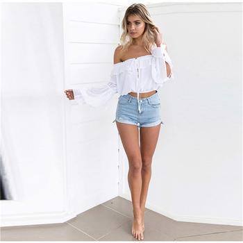 8c0c49f1bdd79a Hot sale women ladies tops latest design chiffon patchwork blouses long  sleeve off shoulder tops ropa