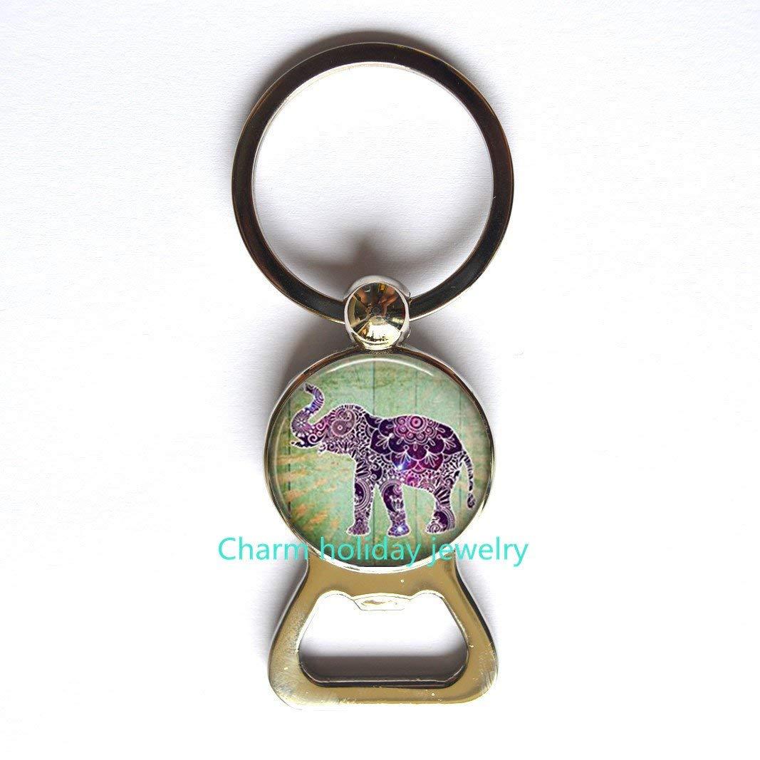 Get Quotations Elephant Bottle Opener Keychain Charm KeychainElephant