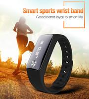 OEM/ODM Bluetooth heart rate smart wrist band contacts steps distance OLED displayed Vibration remind alarm clock bracelet