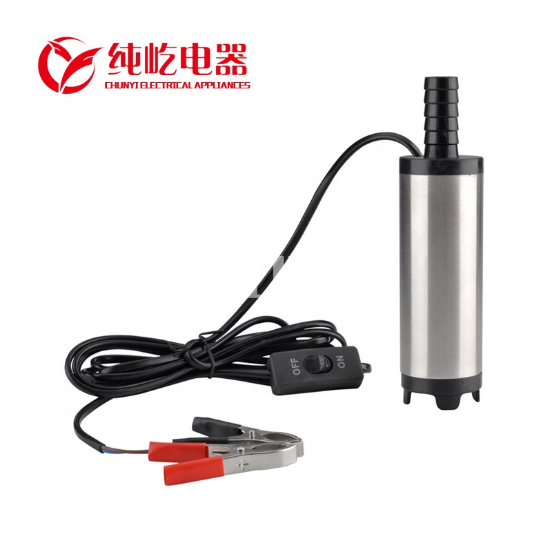 12v/24v submersible 38mm diameter stainless steel diesel oil pump WATER EXTRACTOR fuel feed pump electric water pump wr-803