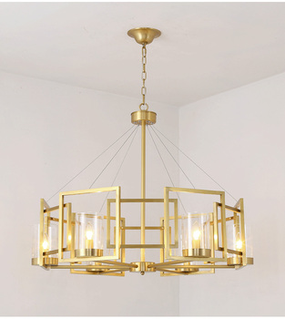 Modern Nordic Style Art Deco 16 lights brass iron chandelier