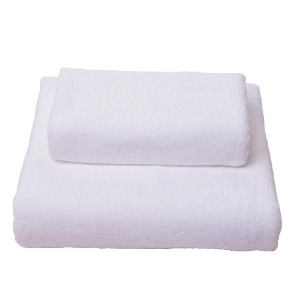 Wholesale 100% Cotton Luxury Pure White Hotel Spa Bath Towels Set 2 bath towel