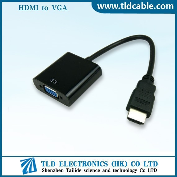 HDMI to VGA Converter Adapter M to F 1080P