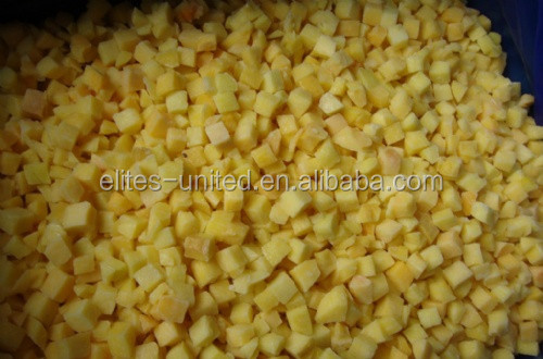 Best Quality IQF frozen fruit peach diced