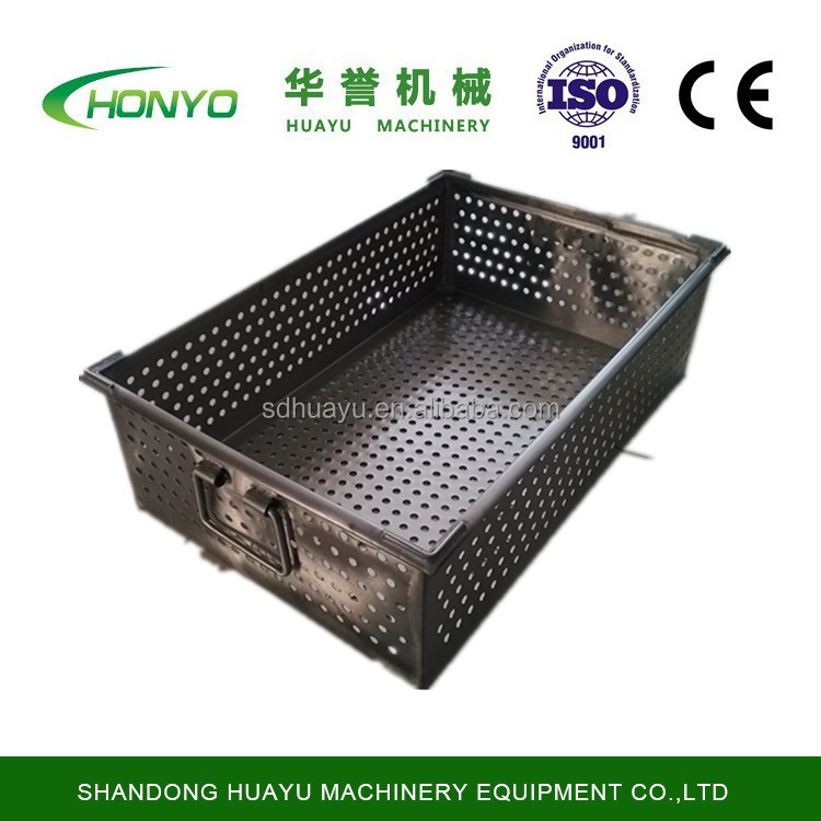 stainless steel tray with handle used in slaughter workshop