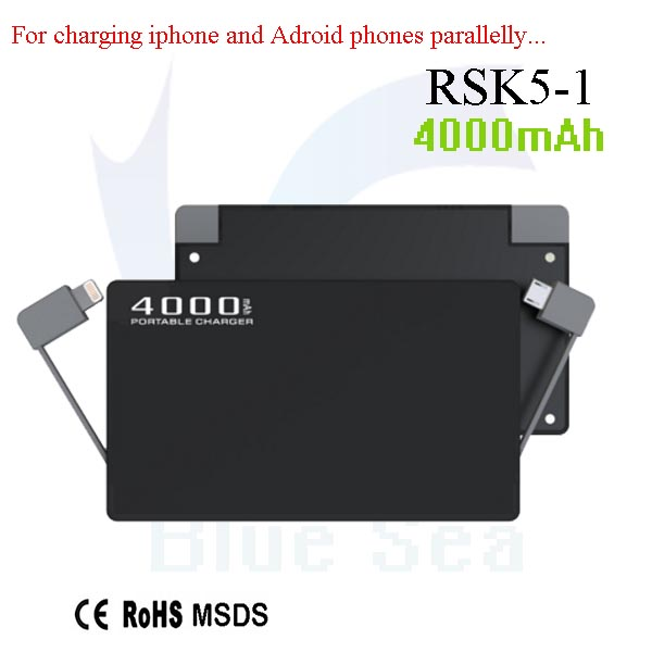 Hot selling 5v solar panel charger battery power mobile power band with great price RSK5-1