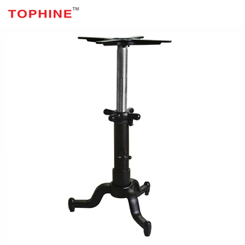 commercial contract cast iron single leg adjustable bar height table rh alibaba com adjustable height metal table base adjustable height metal table base