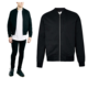 wholesale fashion style Black Bomber Jacket plain black mens winter jackets custom mens jackets