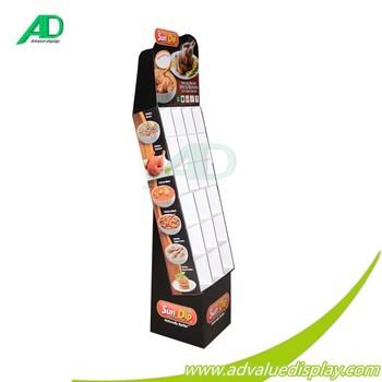 Einkaufszentrum Nudelpizza Möbel Karton Pdq Display Boden Pizze