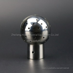 Mirror polished/Matt polished Stainless Steel SS304 SS316L Sanitary Weled Fixed Spray Cleaning Ball