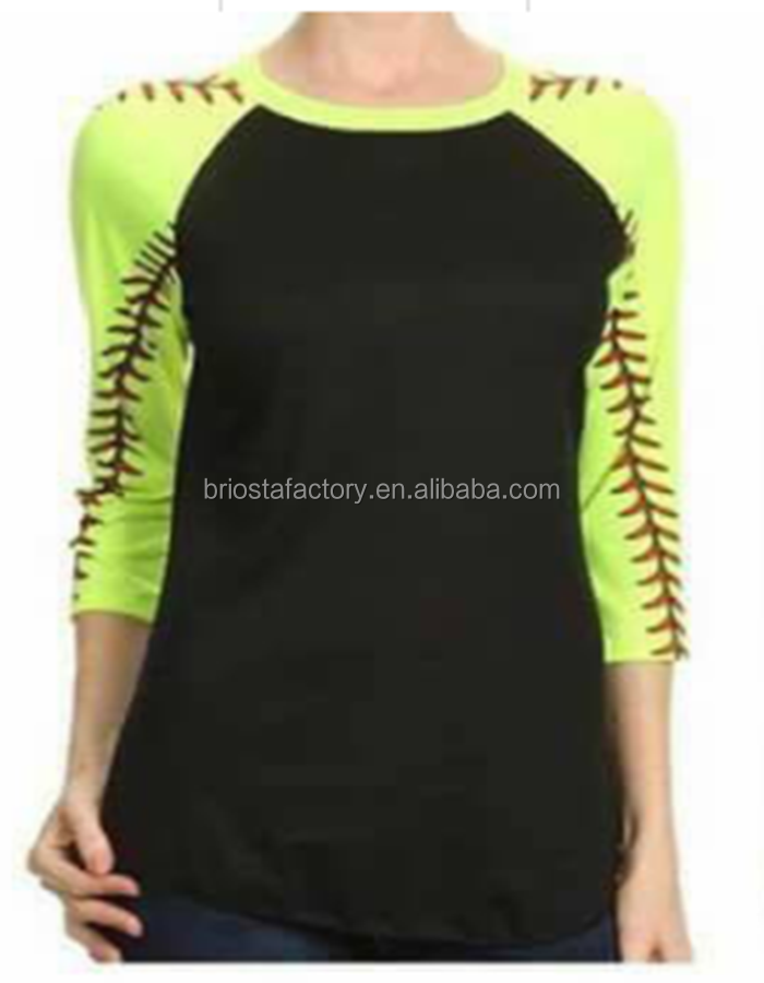 Wholesale Long Sleeves Baseball Monogram Raglan