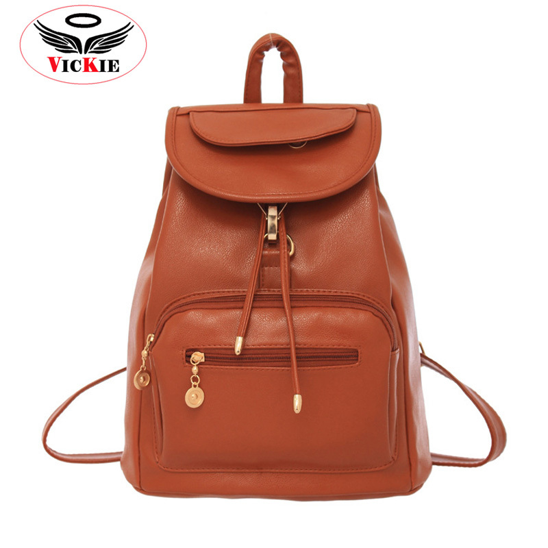 Women PU Leather Backpacks Korean Style Backpacks Casual Vintage Bag College Backpack Fashion Travel Lady Bag Mochila Marca BD20