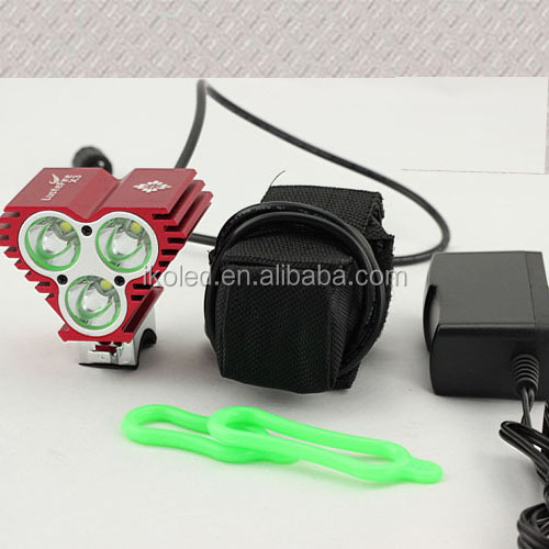 Zoomable 3 Modes 3xcree Xm-l U2 Led Bicycle Bike Light Headlamp ...