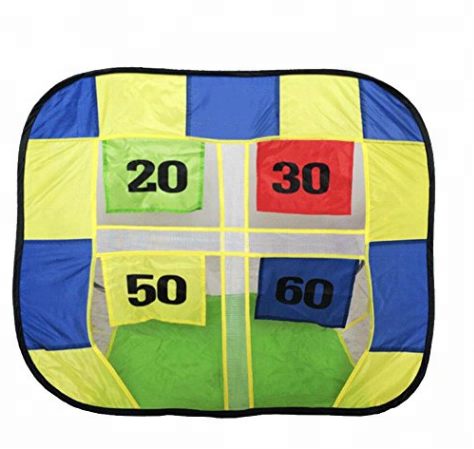 Small Pop Up Fiberglass Pole Single Layer Beach Ball Goal Kid Play Tent