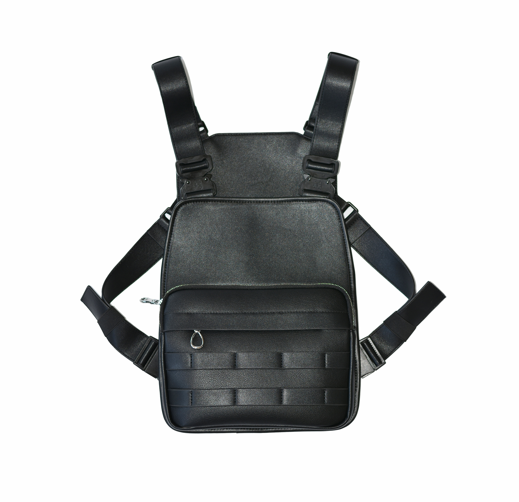 2019 New launched black leather  chest rig bag